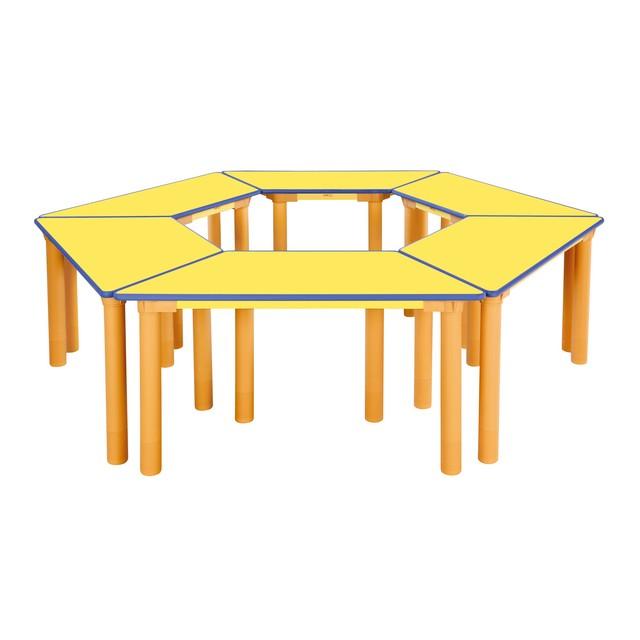 H82-1 안전 노랑 열린 1~3학년 학습대 [기본다리-580mm]