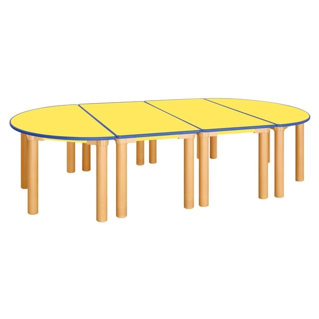 H78-1 안전 노랑 열린 유치 책상 [기본다리-530mm]