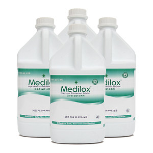 메디록스 고수준 살균소독제 4L - 1박스(4개)/식약처허가/기구등의살균소독제